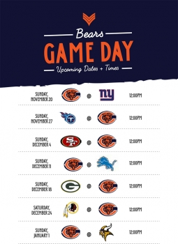 Bears Games at The Scout