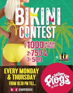 MONDAY and THURSDAY: BIKINI CONTEST
