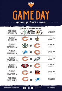 Scout Game Day Calendar