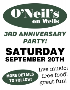 O'Neil's 3rd Anniversary Party