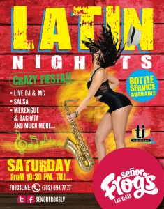 Latin Night on Every Saturday Night