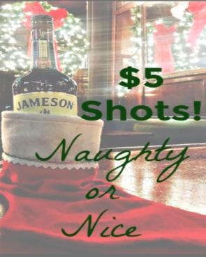 $5 Jameson Shots