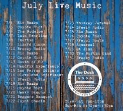 July Music Schedule