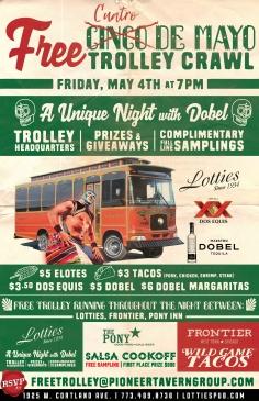 Cuatro De Mayo Trolley Crawl!