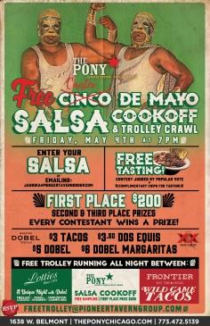 The Pony Inn Cinco De Mayo Salsa Cook Off Trolley!